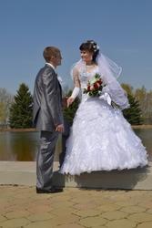 свадебное платье шикарное с стразами на карсете